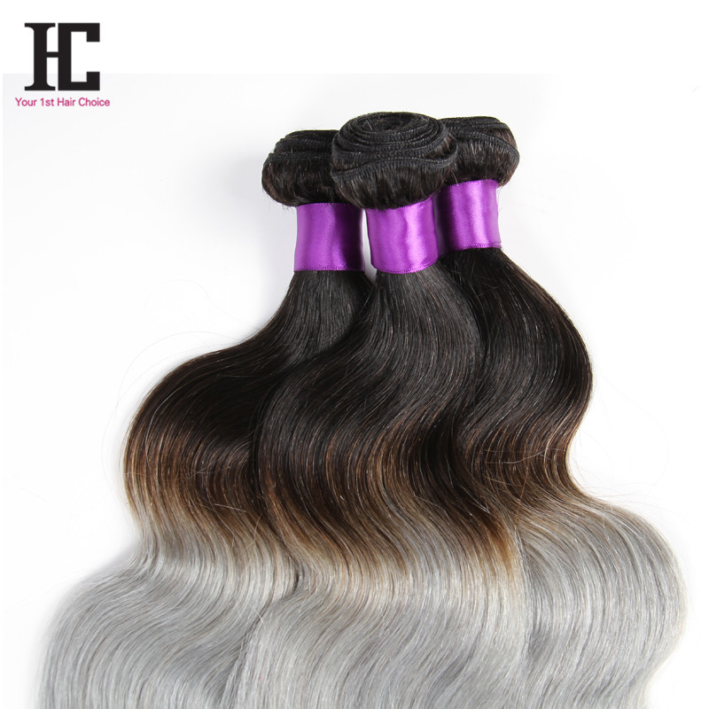 Buy Newest Grey Hair Extensions 100 Brazilian Ombre Human Hair