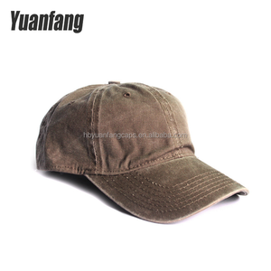 Custom 100% Cotton Brushed Prewashed twill 16*12/108*56 Plain Khaki 6panels Baseball Cap