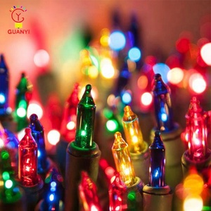 UL Multi colors Mini Christmas Incandescent String Lights Chain for Home Garden