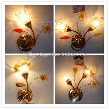 Country Side Chandelier Flower Lamp Wall Mounted