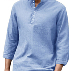 latest design 100% cotton kurta style Casual full sleeves shirts for mens summer wear shirts for mens AS789431