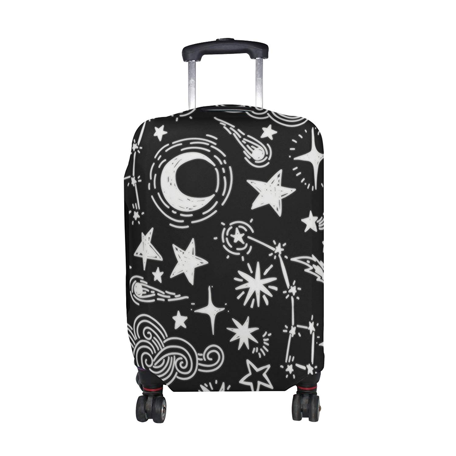 Multicolored Palm Leaves Travel Luggage Protector Case Suitcase Protector For Man/&Woman Fits 18-32 Inch Luggage