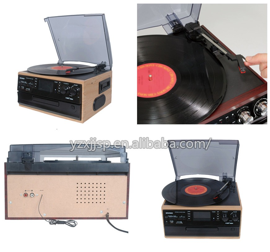 33 45 78rpm Selectable Speed Vinyl Record Player With Cd