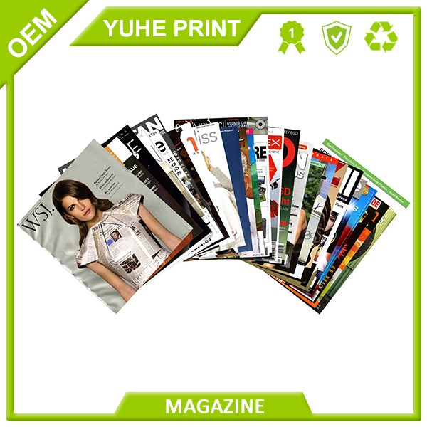 China cheap printer matt lamination glossy laminated fashion full color a4 magazine printing