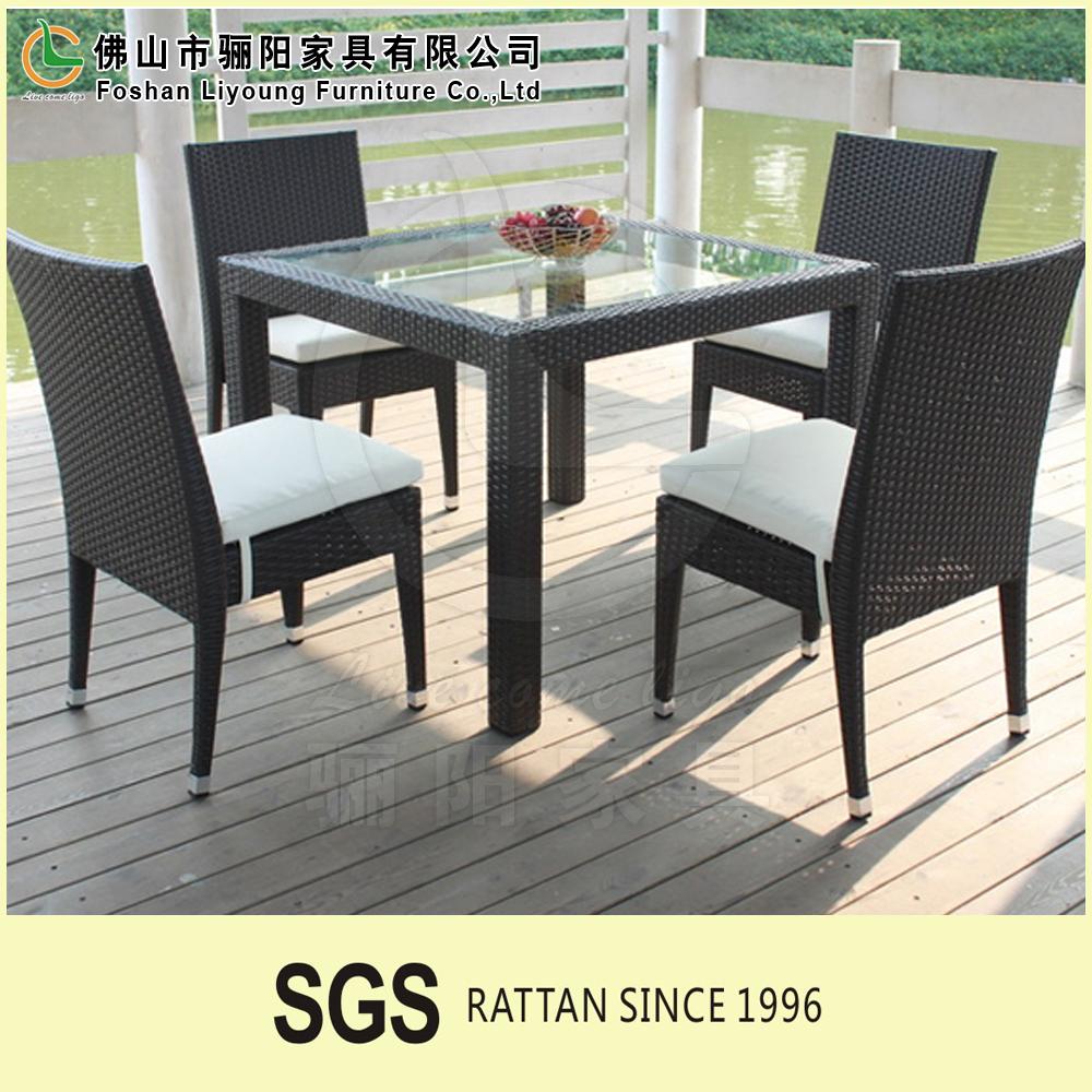 Hotsale outdoor garden wholesale pe plastic rattan tables