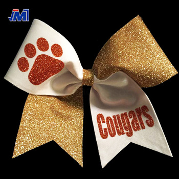 High Quality Oem Factory Hot Sale Handmade Large Size Cheer Bows Glitter