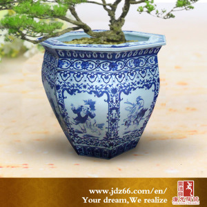 Ceramic Chinese Antique Fine Quality Large Flower Pots Garden