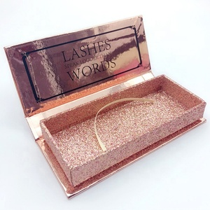 Private label lashes box wholesale glitter false eyelash packaging box