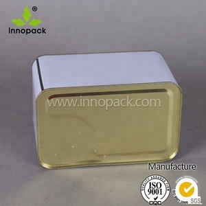 Square tin can/paint jar/lubricant oil container with customized printing and size