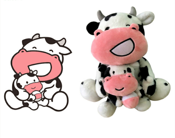 Chinese Manufacturer OEM Dairy Cow Custom Plush Animal Toy
