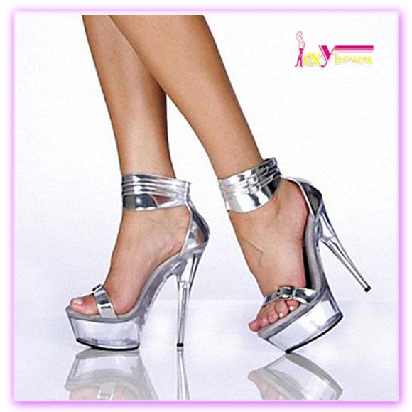 d27a60beb مثير حار مبيعات عالية جدا كعب منصة الكاحل حزام الصنادل الأحذية شفافة ...