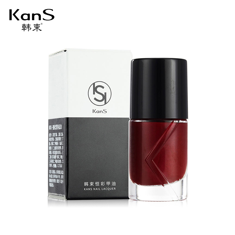 KANS 11 ML Fashion Waterproof Gel Polish Makeup No Smell Lacquer Dry Quickly Palisade Permanent Ice