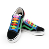 V-tie custom printed shoelace elastic silicone shoelace for kid's shoes