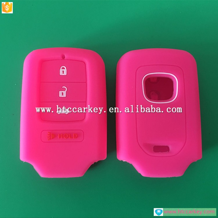 Colorful silicone car key cover for honda