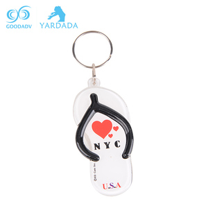 clear acrylic flip flop cheap keychains wholesale