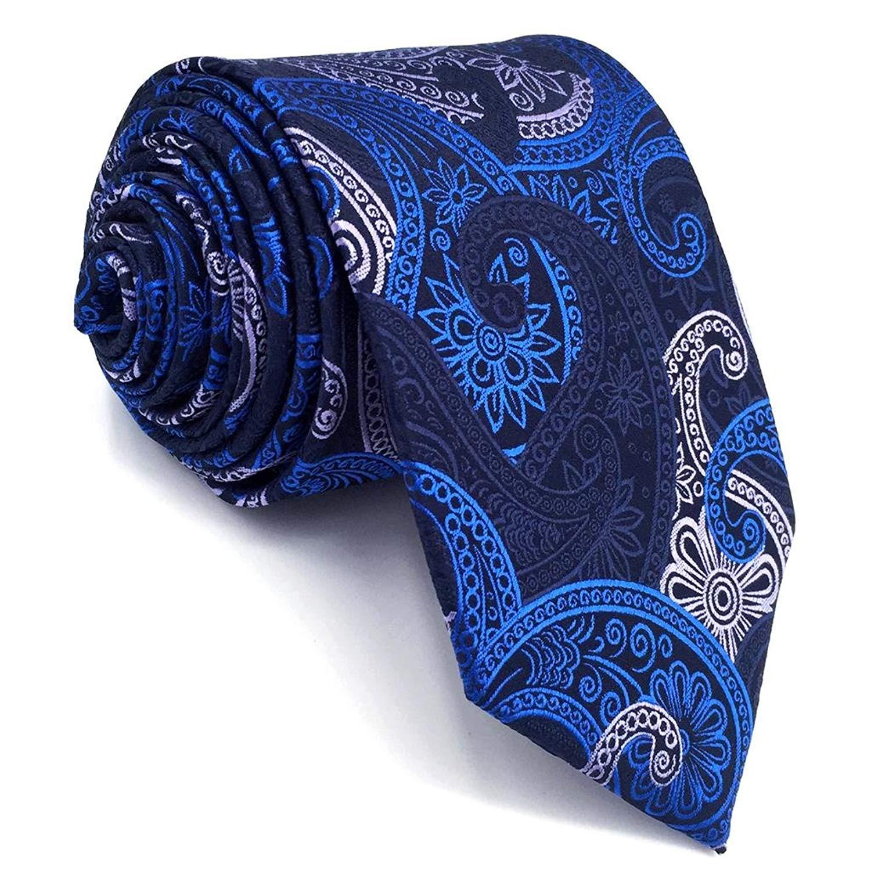 323325c994da Shlax&Wing Mens Neckties Blue Navy Silk Paisley Ties Business For Men  Designer