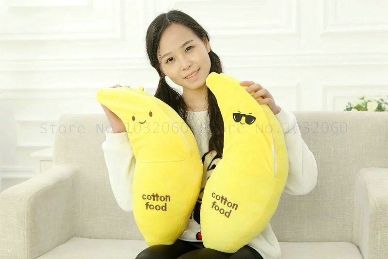 Useful Peeled Banana Plush Toy Stuffed Fruits Bananas Stuffed Sofa Decor Pillow Huggable Kids Comforting Plushie Friends Gift 4 Sizes Toys & Hobbies