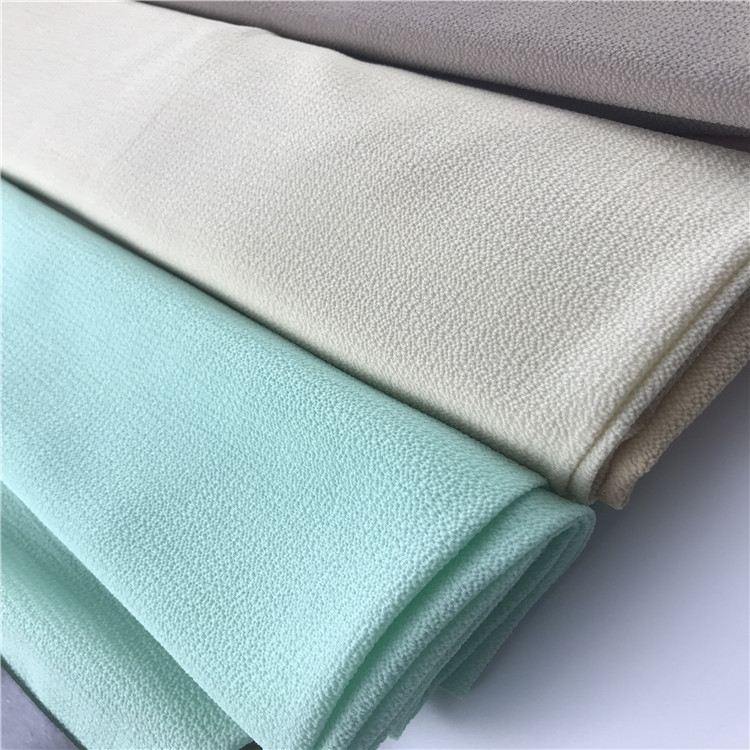 High quality solid polyester bubble chiffon fabric in China textile city