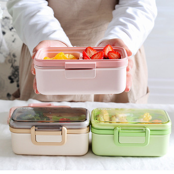 portable  green bento kids reusable  insulated  food  cute lunch box pink