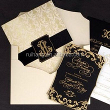 Luxury directly manufacturer great royal style cardboard wedding invitation cards