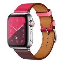 Роскошный ремешок из натуральной кожи для iwatch 4 3 2 1 для Apple Пряжка для ремешков наручных часов манжета 38 мм 42 мм 40 мм 44 мм серия 5(Китай)