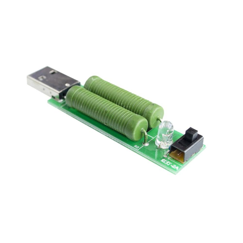 5PCS/LOT USB mini discharge load resistor 2A/1A With switch 1A Green led, 2A Red led
