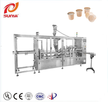 2017 New type Two lanes k cup coffee filling and sealing machine