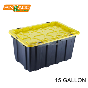 15 Gallon Heavy Duty Tough Snap Lid Plastic Storage Tote