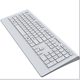 oem service nano receiver white color 2.4g wireless keyboard