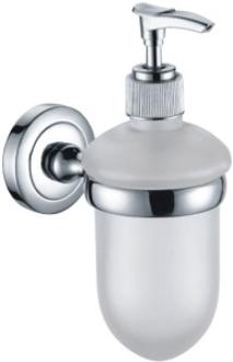 oem for kohlermoen designer wall mounted cheap soap dispenser with mirror chrome finish