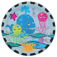 Tiki Tropics Hawaiian Themed Party 9 Inch Square Paper Plate