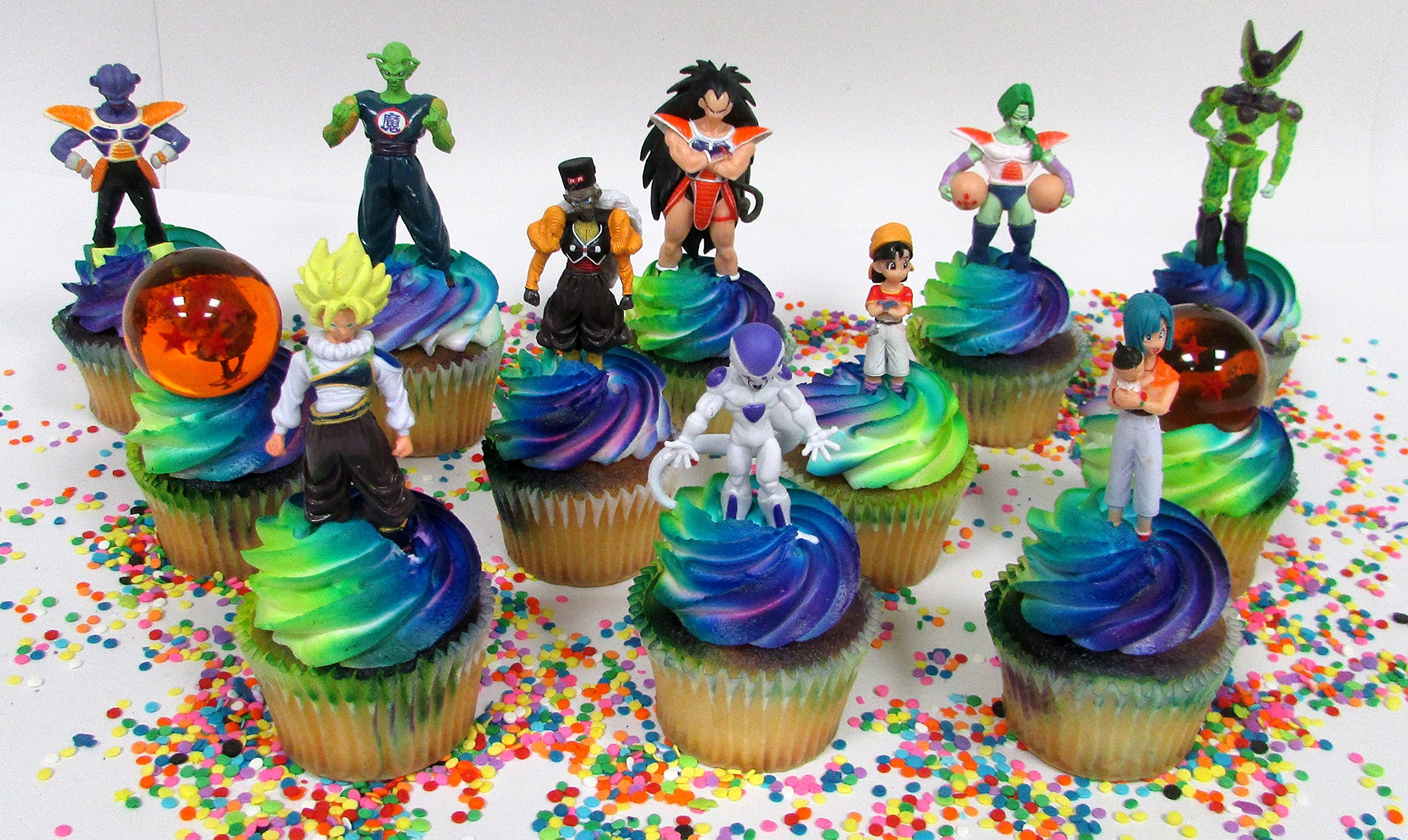 Get Quotations DRAGON BALL Z Themed Birthday Cupcake Topper Featuring Dragon Ball Characters And Decorative Accessories
