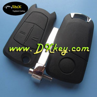 Competitive price car key replacement with HU100 blade for opel vectra key 2 buttons
