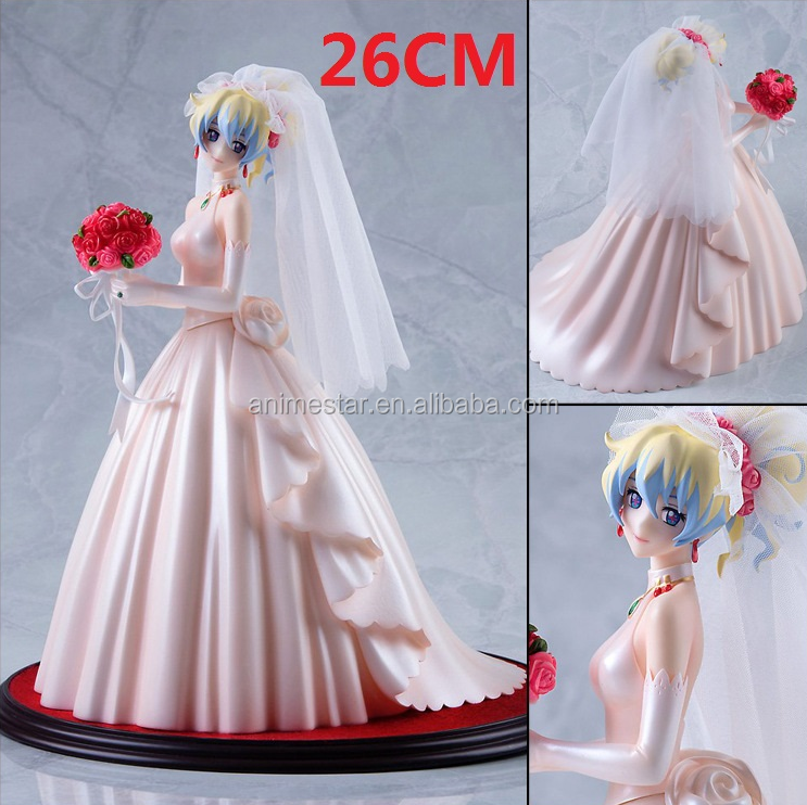 Cartoon Girl Toys Wedding Dress Bride Myethos Tengen Toppa Gurren Lagann Renia Anime Figure 26CM