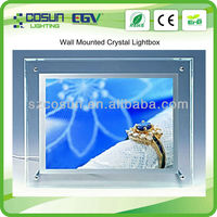 2014 led photo picture frame ,single side crystal lighting boxes