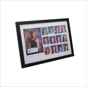Graduation gift black wood collage picture photo frame