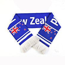Manufacturers Custom Logo World Cup acrylic knitted Football Fan Scarf Albanian Scarf