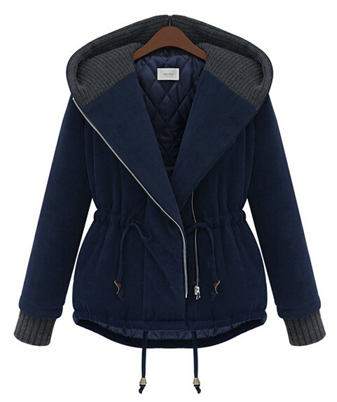 EY0410C Korean Winter Women thick loose cotton jacket short paragraph Hit color padded jackets thicken warm coats