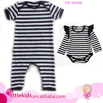 Newborn Baby Clothes Black Stripe Romper Blank Shortall Jumpsuits Take Home Outfit Boy Names Unique