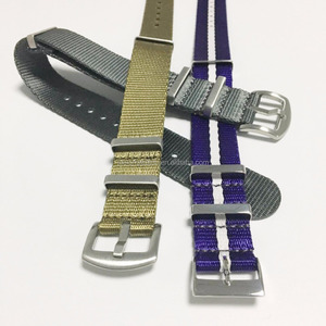 Hot Selling Polished Buckle Square Keeper 20mm 22mm Seatbelt Watch Strap
