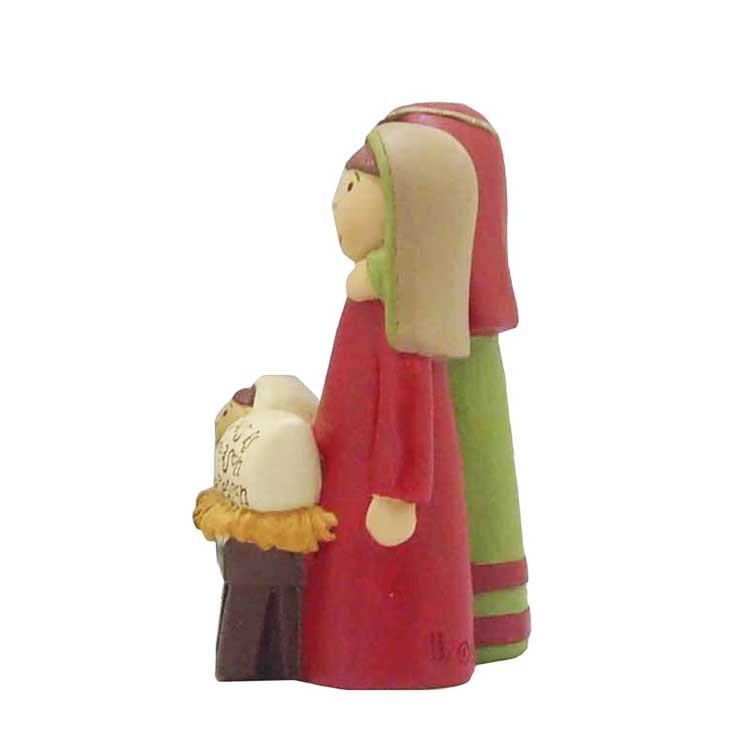 'jesus is' family nativiry set  joseph/mary/jesus figure artificial handicraft decorative statues
