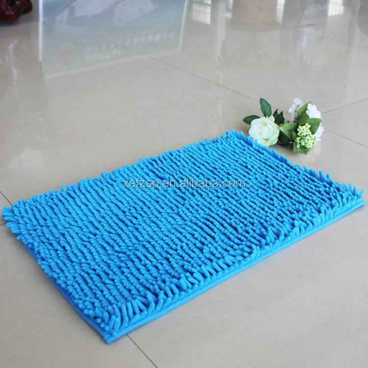 solid color short pile microfiber chenille cheap shag rug
