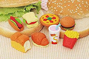 iwako 8 pieces food bakery and fast food japanese Puzzle erasers from Japan