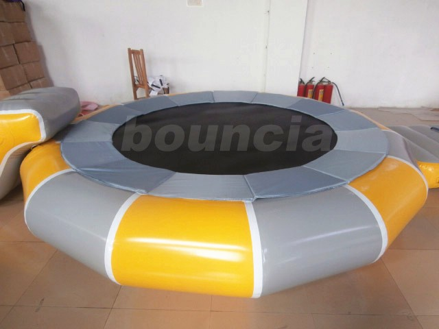 Inflatable Water Trampoline With Slide For Water Pool
