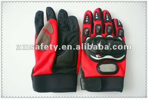 synthetic leather sport motorcycle gloves with rubber JRB101