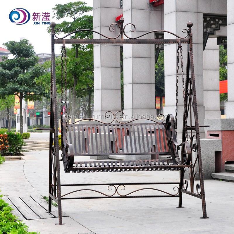 Wrought Iron Metal Garden Swing Chairs Manufacture Hanging Garden