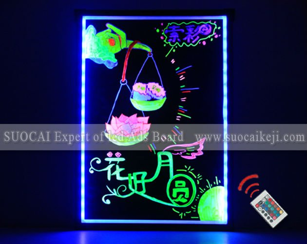 Best sale fluorescent color changing LED advertsing sign