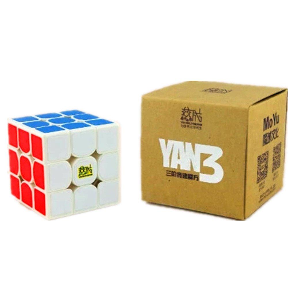 CuberSpeed Moyu YanCheng YAN3 3x3 White Magic cube YAN 3 YanCheng YAN3 Speed cube