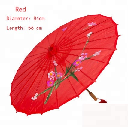 Provided Dia 50cm Free Shipping Chinese Sunscreen Decoration Oiled Paper Umbrella Handmade Traditional Craft Umbrella Children Dance Big Clearance Sale Tools