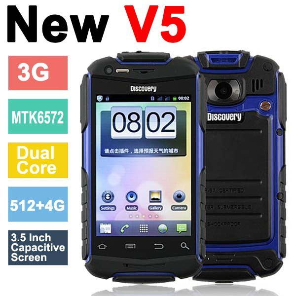 "Discovery V5+ Shockproof Dual Core 3G Android 4.2.2 Phone 3.5"" Capacitive"